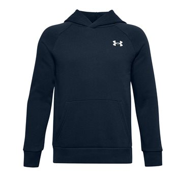 Under Armour Rival Cotton Hoodie - Boys - Academy/Onyx White  - Click to view a larger image