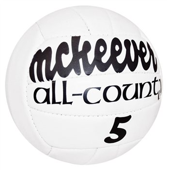 Mc Keever All-County Size 5 Match Ball (Pack of 10 + Free Net)  - Click to view a larger image