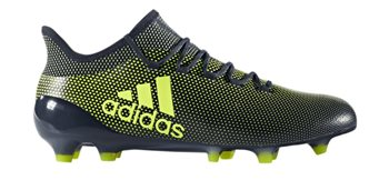 adidas X 17.1 FG Football Boots - Adult - Legend Ink/Solar Yellow  - Click to view a larger image
