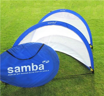 Samba Soccer Elite Pop Up Goal 6ft Round - Blue  - Click to view a larger image