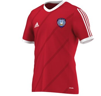 adidas County Cork GAA Tabela 14 Tee - Youth - Red/White  - Click to view a larger image