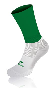 Mc Keever Pro Mid Plain Socks - Adult - Green/White  - Click to view a larger image