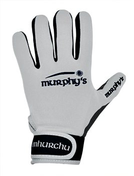 Murphy's Gaelic Gloves - Adult - White/Black  - Click to view a larger image