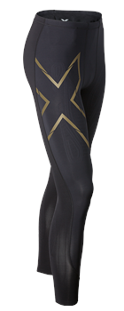 Image of 2XU Elite MCS Compression Tights - Mens - Black/Gold