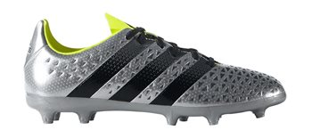 Image of adidas Ace 16.3 Jr FG Football Boots - Youth - Silver Met/Core Black/Solar Yellow