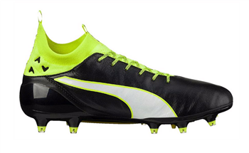 Puma EvoTouch Pro FG Boots - Adult - Black/White/Safety Yellow  - Click to view a larger image