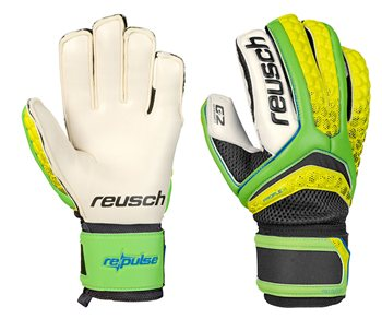 Reusch RePulse Pro Duo G2  Goalkeeper Gloves  Adult  Green GeckoSafety Yellow