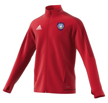 adidas County Cork GAA Tiro 17 Training Jacket - Adult - Red  - Click to view a larger image