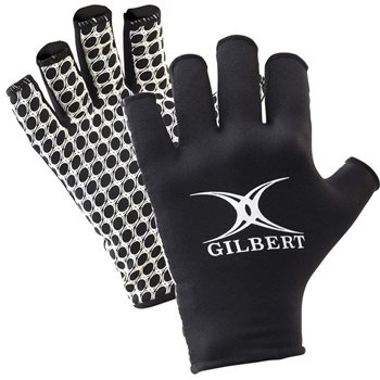 Gilbert International Rugby Gloves - Adult - Black  - Click to view a larger image