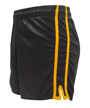 LS Pairc Gaelic Shorts - Black/Gold - Adult  - Click to view a larger image
