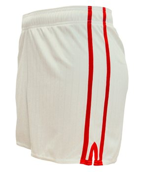 LS Pairc Gaelic Shorts - White/Red - Youth  - Click to view a larger image