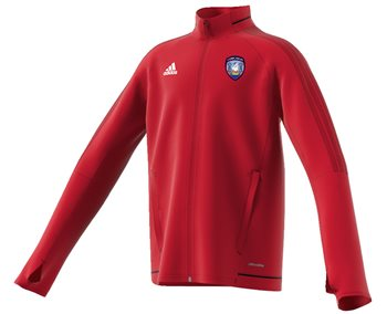 adidas County Cork GAA Tiro 17 Training Jacket - Youth - Red  - Click to view a larger image
