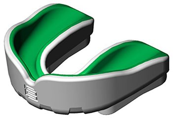 Makura Ignis Pro Gum Shield - Youth - White/Green  - Click to view a larger image