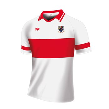 Mc Keever Whitehall Colmcille GAA Jersey - Youth - White/Red  - Click to view a larger image