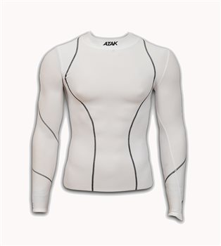 Atak Compression Top - Youth - White  - Click to view a larger image