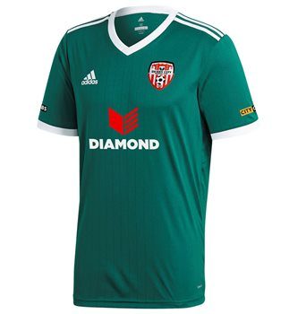 adidas Club Derry City FC Tabela 18 Away Jersey - Youth - Collegiate Green/ White