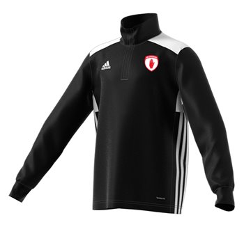 adidas County Tyrone GAA Regista 18 Training Top - Youth - Black/White  - Click to view a larger image