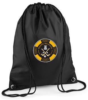 The GAA Store Naomh Mearnog CLG Gymsack - Black  - Click to view a larger image