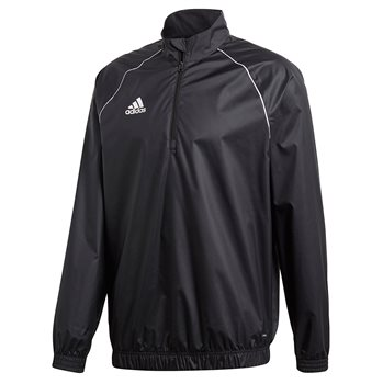 adidas Core 18 Windbreaker - Adult - Black/White  - Click to view a larger image