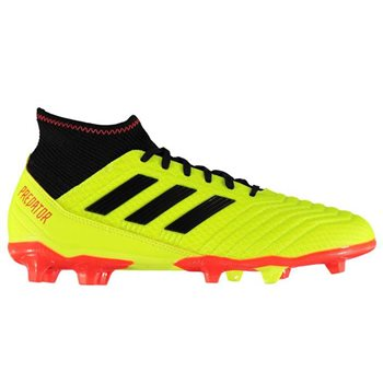 504970f2080 adidas Predator 18.3 FG Football Boots - Adult - Yellow Red - Click to view