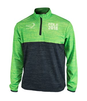 77d0a2776f43 Mc Keever Feile 2018 1 4 Zip Jacket - Youth - Black Green From £15.00