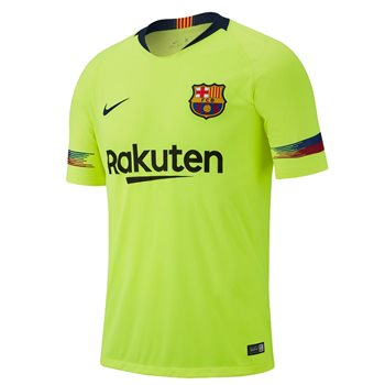 69e372cdec553 Nike FC Barcelona 2018/19 Short Sleeve Stadium Away Jersey - Adult - Volt/Deep  Royal Blue | Buy Online | TheGAAStore.com