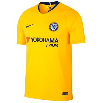 Nike Chelsea Football Club 2018 19 Short Sleeve Away Stadium Jersey - Adult  - Tour Yellow Rush Blue  52973ef30