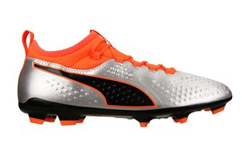 0a6ce7734 Puma Puma One 3 Syn FG Football Boots - Adult - Silver/Orange/Black ...