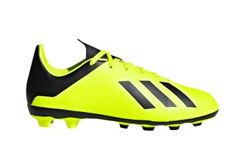 on sale 102dc b9b76 adidas X 18.4 FG Football Boots - Youth - YellowBlackYellow - Click