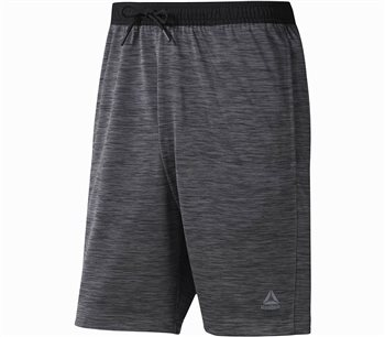 Reebok WOR KN SHORT - Mens - Dark Grey Heather  - Click to view a larger image