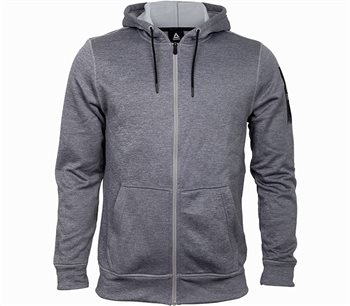 Reebok Thermowarm Full Zip Hoodie - Mens - Medium Grey Heather  - Click to view a larger image