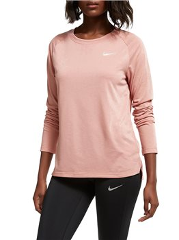 cb9f1ec1658339 Nike Tailwind Long Sleeve Running Top - Womens - Rust Pink - Click to view a
