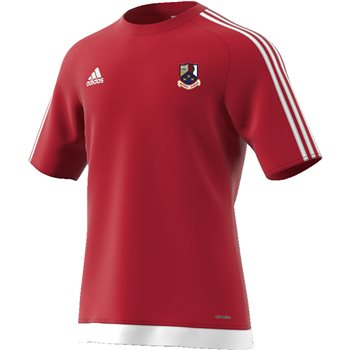 adidas Club Whitehall Colmcille GAA Estro Tee - Youth - Red/White  - Click to view a larger image