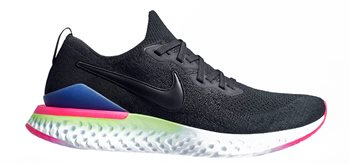 Nike Epic React Flyknit 2 Running Shoes - Mens - Black/Sapphire/Lime  - Click to view a larger image