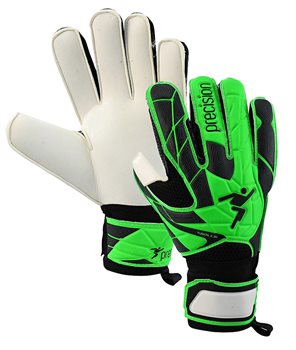 Precision Training Precision Fusion_X.3D Junior Flat Cut Finger Protect Goalkeeping Gloves - Youth - Black/Grey/Lime  - Click to view a larger image
