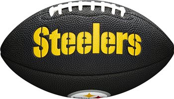 Wilson NFL Team Logo Soft Touch Mini American Football - Pittsburgh Steelers  - Click to view a larger image