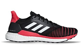 adidas Solar Glide Running Shoes - Mens - Black/White/Pink  - Click to view a larger image