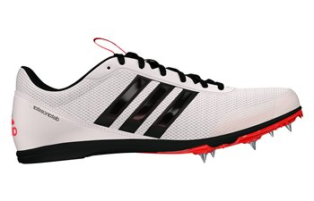 adidas Distancestar Running Spikes - Mens - White/Black/Red  - Click to view a larger image