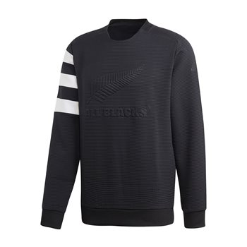 adidas New Zealand All Blacks 2019/20 Crew Neck Sweat Top - Adult - Black  - Click to view a larger image