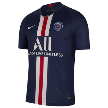 Nike Paris Saint Germain 2019/20 Short Sleeve Home Stadium Jersey - Adult - Midnight Navy/White  - Click to view a larger image