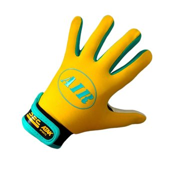 Atak Air Gaelic Gloves - Adult - Yellow/Blue/Black  - Click to view a larger image
