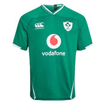 Canterbury Ireland Rugby 2019/20 Vapodri+ Short Sleeve Home Pro Jersey - Mens - Bosphorus  - Click to view a larger image