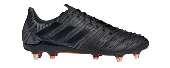 various colors new high quality various styles Predator Malice Control SG Rugby Boots - Adult - Black/Black/Orange - UK  Size 8 | US 9 | EU 42.5