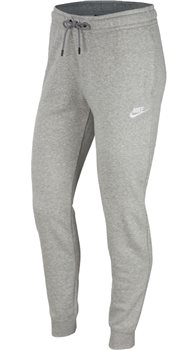Nike Sportswear Essential Fleece Pants - Womens - Dark Grey Heather/White  - Click to view a larger image