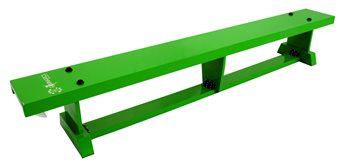 Sure Shot Lite Wood Coloured Bench 2m long (6ft 7in) - Green  - Click to view a larger image