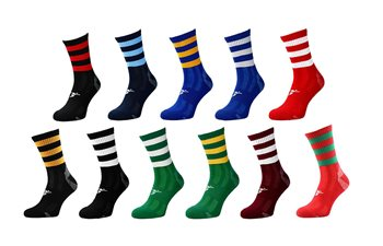 Precision Training Pro Hooped GAA Mid Socks - Youth - UK Size 12-2  - Click to view a larger image