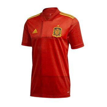 adidas Spain FC UEFA Euro 2020 Official Short Sleeve Home Jersey - Adult - Victory Red  - Click to view a larger image