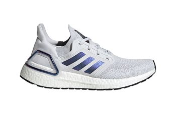 Image of adidas Ultra Boost 20 Running Shoes - Womens - Grey/Blvime/Black