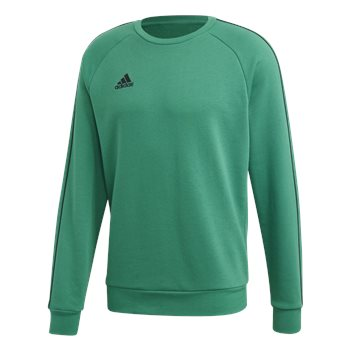 adidas Core 18 Sweat Top - Adult - Bold Green  - Click to view a larger image