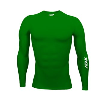 Atak Compression Recovery Long Sleeve Top - Adult - Green  - Click to view a larger image